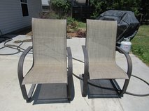 Outside patio chairs in Beaufort, South Carolina