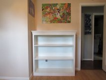 White bookshelf solid wood in Beaufort, South Carolina