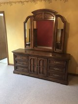 Dresser w/ mirror, 2 end tables & hutch in Plainfield, Illinois