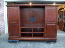 All wooden entertainment center in Clarksville, Tennessee