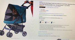 Excellent Condition - Pet Gear No-Zip Happy Trails Pet Stroller in Okinawa, Japan