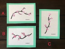 cherry blossom paintings in Okinawa, Japan