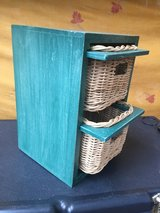 Green Box w/2 Wicker Basket Drawers in Ramstein, Germany