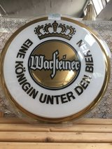 Warsteiner Deco Plastic Sign in Ramstein, Germany