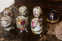 French Porcelain Faberge Egg Jewelry Case, Etc in Ramstein, Germany