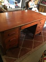 Very old wood desk 34Wide 5 feet long 30 inches tall in Cleveland, Texas