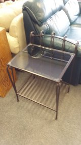Glass & metal side table in Bartlett, Illinois
