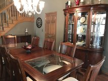 Dining room table,8 chairs,  buffet & lighted china cabinet in Plainfield, Illinois