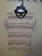 Young Men's Zoo York V-neck Fashion Striped Tee - Size Small in Lockport, Illinois