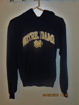Unisex Notre Dame Navy Hoodie Sweatshirt by Champion Authentic Athletic Apparel in Naperville, Illinois
