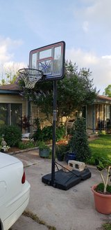Basketball goal in Baytown, Texas