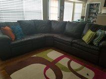 Lane brown leather sectional in Aurora, Illinois