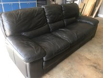 leather black couch in Warner Robins, Georgia