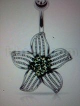 Flower belly ring in Camp Lejeune, North Carolina