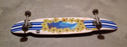 "skate board.   Length:  45""  width: 9.5""   Base:  29"" Wheels diameter 2.5"" and 10"" apart. Base: ... in Orland Park, Illinois"