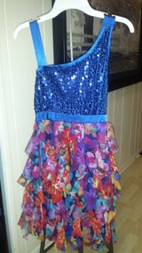 Like new!   Girls Dress from Justice Sz 14 in Chicago, Illinois