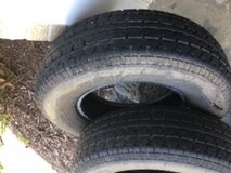 "14"" trailer tires, almost new in Naperville, Illinois"