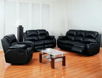 Kenia - Sofa-Loveseat-Chair in black or brown including delivery in Hohenfels, Germany
