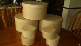 Paper Mache craft boxes (round) in Plainfield, Illinois