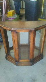 antique solid wood curio cabinet in 29 Palms, California