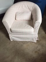 Slipcover cushioned chair in Plainfield, Illinois