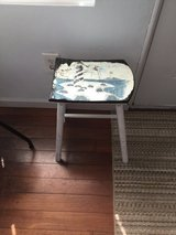 Beachy wooden distressed stool in Norfolk, Virginia