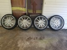 26 inch Chrome Rims and Tire Set in Alexandria, Louisiana