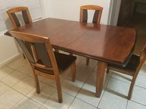 Table with 4 chairs+ a leaf(Solid Wood) in The Woodlands, Texas