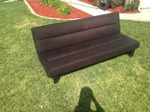 Futon, black, goods condition in Camp Pendleton, California