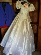 Wedding dress, color is candlelight (light cream) in Baytown, Texas