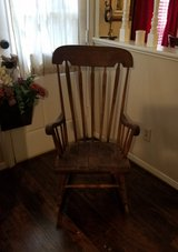 Antique Rocking Chair Club Accent Wood Living Dining Nursery Baby Porch Bed Room in Kingwood, Texas