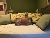 Queen comforter, bed skirt, shams, accent pillow & valance in Sugar Grove, Illinois