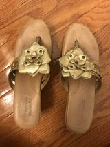 Born Gold Wedge Sandals in Naperville, Illinois