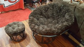 Papasan Chair with Foot Stool in Fort Leonard Wood, Missouri