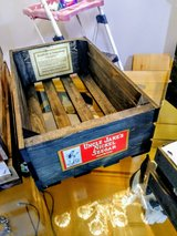 Antique label tobacco crate / box in Cherry Point, North Carolina