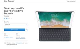 "Apple iPad Pro 10.5"" Apple German Smart Keyboard in Ramstein, Germany"