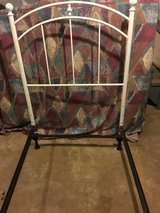 White metal frame twin bed in Clarksville, Tennessee