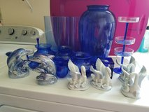 Brillian Blue Home Decor (Vases, Champagne glasses, dolphins, swans, candle holders) in Fort Knox, Kentucky