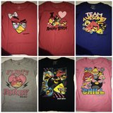 6 piece Size large angry birds t-shirts in Fort Polk, Louisiana