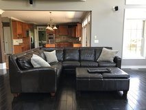 Leather Sectional couch in Wheaton, Illinois