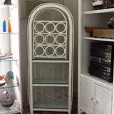 Wicker Shelving/Wine Rack in Cherry Point, North Carolina