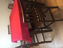 Table with leaf and 8 chairs in Lawton, Oklahoma