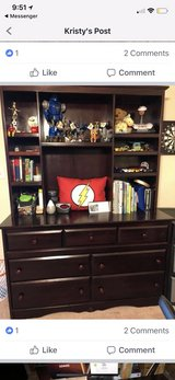 expresso dresser with hutch in Conroe, Texas