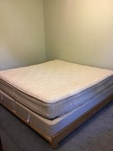 King Size Mattress and Bedframe in Fort Campbell, Kentucky