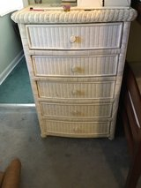 Antique White Wicker Dresser in Fort Campbell, Kentucky