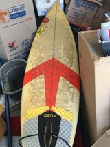 "mike Richards surfboard 6'1"" with leash in Yucca Valley, California"