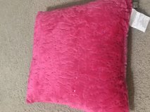 """Plush pillow with sequence 16""""x16"""" in Conroe, Texas"""