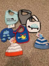 Baby boy bib and hat LOT-many new w/tags! in Aurora, Illinois