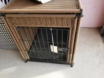 Wicker-look Vinyl Pet Crate in Camp Lejeune, North Carolina