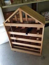 Wine Rack in House Shape Out of Wood in Camp Lejeune, North Carolina